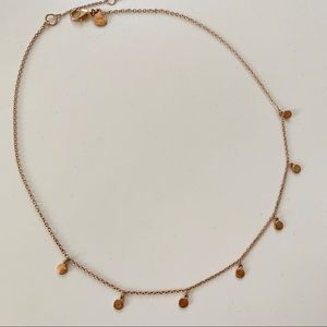 Brand new J. Crew Demi rose gold necklace